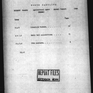 Annual Narrative Report of Robeson County, NC