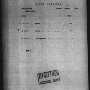 Annual Report Division of Publications 1939