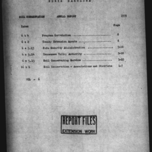 Annual Report 1939 Extension Soil Conservation