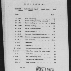 African American County Agent Annual Narrative Report for Edgecombe County, NC