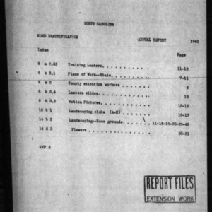 Agricultural Extension Service Home Beautification Annual Report 1940