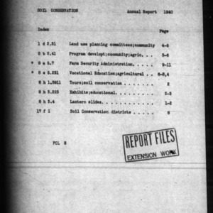 Annual Report Extension Soil Conservation 1940