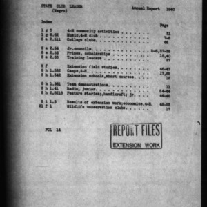 1940 Annual Narrative Report of Negro 4-H Club Work