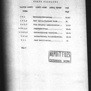 Annual Narrative Report of County Agent Work of Halifax County, NC