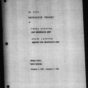4-H Club Annual Narrative Report, Durham County, NC, 1941