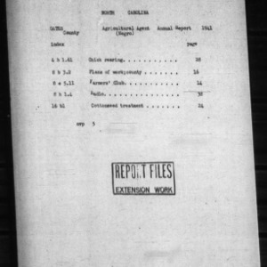 Annual Narrative Report by Negro County Agent for Gates County, NC
