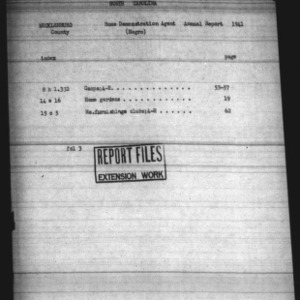 Annual Narrative Report of Negro Home Demonstration Agent Work of Mecklenburg County, NC