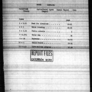 Annual Narrative Report of Extension Work Among Negroes in Pasquotank County, NC