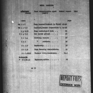 Annual Narrative Report of Negro Home Demonstration Agent Work of Edgecombe County, NC