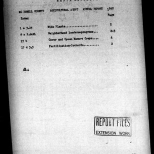 Agricultural Agent Annual Report, McDowell County, NC