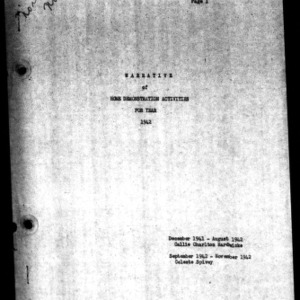 Annual Narrative Report of Pasquotank County, NC