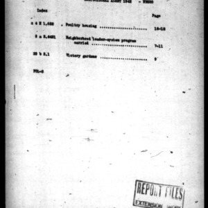Agricultural Agent Report, Wilson County, NC