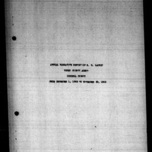 Annual Narative Report of Negro County Agent, Iredell County, NC