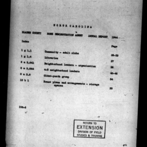 Annual Narrative Report of County Home Demonstration Agent, Bladen County, NC, 1944