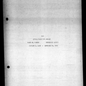 4-H Annual Narrative Report, Edgecombe County, NC, 1944