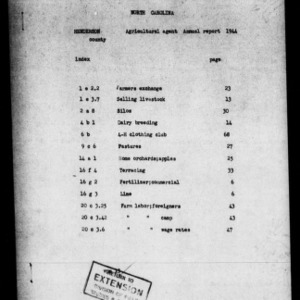 Annual Narrative Report of County Agent and Farm Labor Report, Henderson County, NC