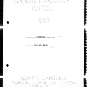 Annual Narrative Report, Caldwell County, NC