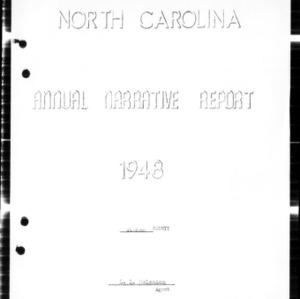 North Carolina Annual Narrative Report, Camden County, NC