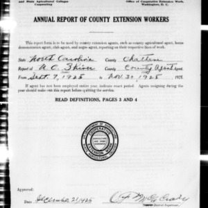 Annual Report of County Extension Workers, Catawba County, NC