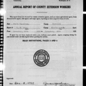 Annual Report of County Extension Workers, Cherokee County, NC