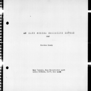4-H Club Annual Narrative Report, Cherokee County, NC, 1948