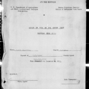 Annual Narrative Report of County Agents, Columbus County, NC