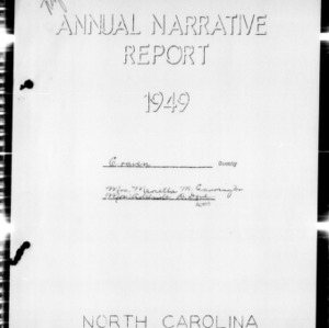 Annual Narrative Report of Craven County, NC