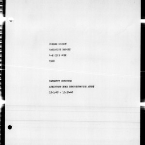 4-H Club Annual Narrative Report, Durham County, NC, 1953