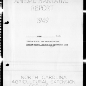 Annual Narrative Report of Durham County, NC