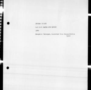 4-H Club Annual Narrative Report, Durham County, NC, 1949