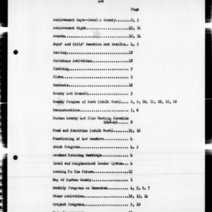 4-H Work Annual Narrative Report, African American, Durham County, NC, 1949