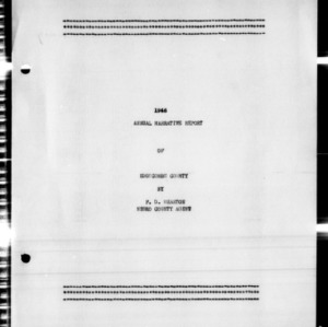 Annual Narrative Report of Edgecombe County Agent