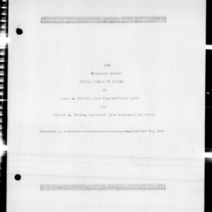 4-H Annual Narrative Report, Edgecombe County, NC, 1946