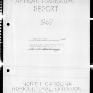 Annual Narrative Report, Edgecombe County, NC