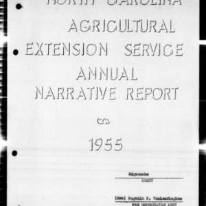 North Carolina Agricultural Extension Service Annual Narrative Report, Edgecombe County, NC