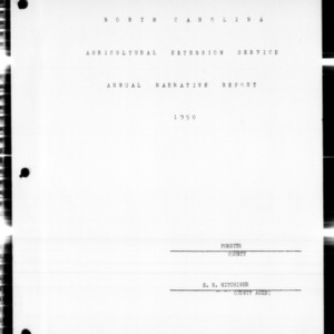 Agricultural Extension Service Annual Narrative Report, Forsyth County, NC, 1950