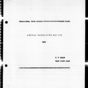 Annual Narrative Report, of Forsyth County, NC