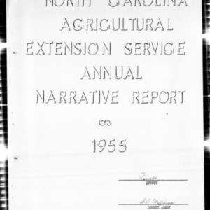 Agricultural Extension Service Annual Narrative Report, Forsyth County, NC, 1955