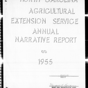 North Carolina Agricultural Extension Service Annual Narrative Report, Franklin County, NC
