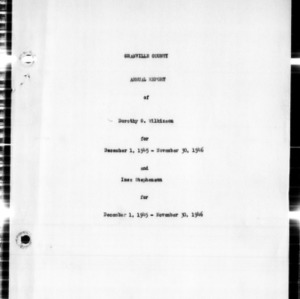 Annual Narrative Report of Home Demonstration Work, Granville County, 1946