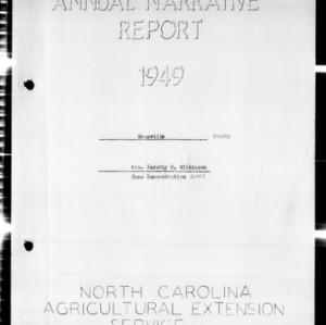 Annual Narrative Report, Granville County, NC