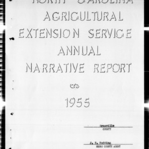 Agricultural Extension Service Annual Narrative Report, African American, Granville County, NC, 1955
