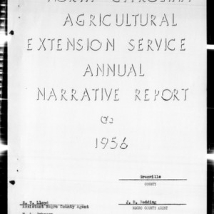 Agricultural Extension Service Annual Narrative Report, African American, Granville County, NC, 1956