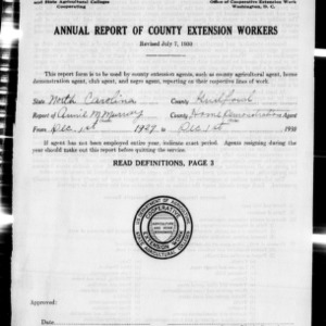 Annual Report of County Extension Workers, Guilford County, NC