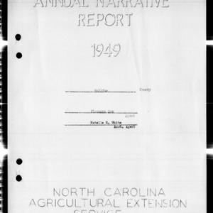 Annual Narrative Report, Halifax County, NC