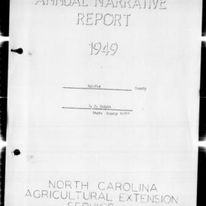 Annual Narraitve Report, Halifax County, NC