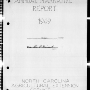 Annual Narrative Report of Harnett County, NC