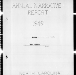 Annual Narrative Report for Haywood County, NC