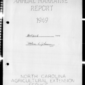 Annual Narrative Report, Hertford County, NC