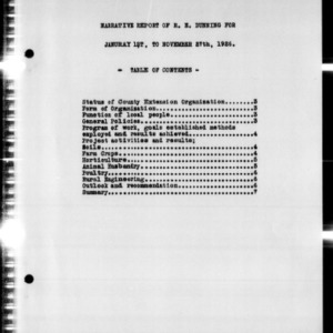 Annual Narrative Report of County Agent Work, Hyde County, NC